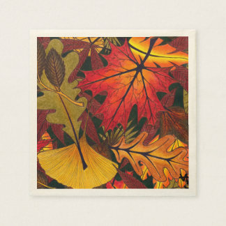Autumn / Fall Leaves - Paper Napkins