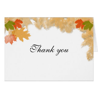 Autumn Fall Leaves Wedding Note Card