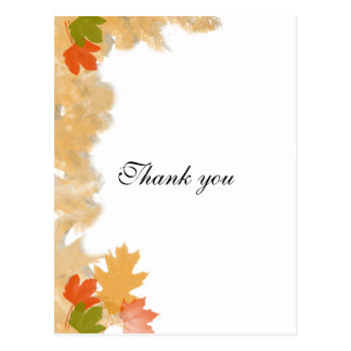 Autumn Fall Leaves Wedding Postcard