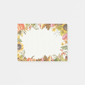 Autumn Fall Maple Leaves Pumpkin Post-it-Note Post-it Notes