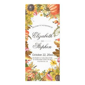 Autumn Fall Maple Leaves Pumpkin Wedding Program