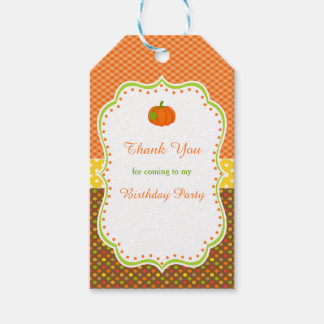 Autumn Fall Pumpkin Gift Tag Pack Of Gift Tags