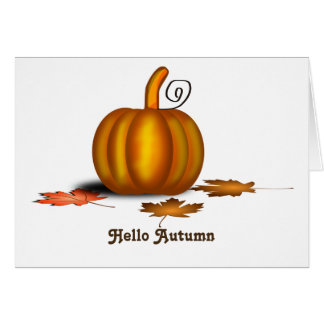 Autumn Fall Pumpkin Leaves Card