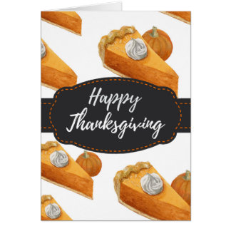 Autumn Fall Pumpkin Pie Thanksgiving Greeting Card