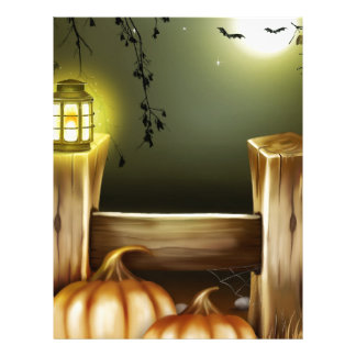 Autumn Fall Pumpkins Moon Night Destiny Letterhead