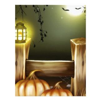 Autumn Fall Pumpkins Moon Night Destiny Letterhead Template