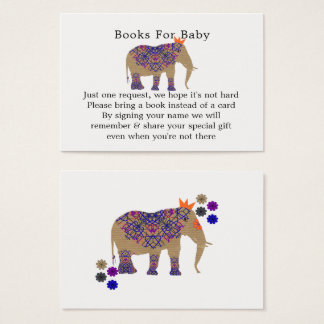 Autumn Fall Rustic Color Cute Elephant Baby Shower Business Card