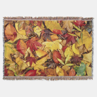 Autumn fall throw blanket