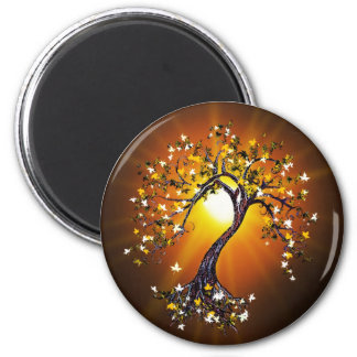 Autumn Fall Tree at Sunset Magnet