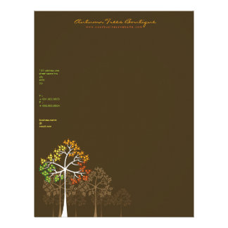 Autumn / Fall Trees Template Business Letterhead