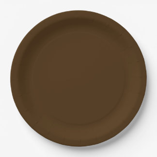 Autumn Fall Wedding Brown Rich Deep Rustic Colour 9 Inch Paper Plate
