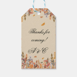 Autumn Fall Wedding Gift Tags