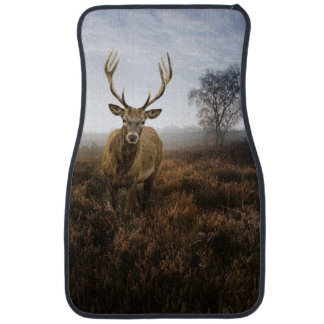 Autumn Fall with beautiful red deer stag Car Mat