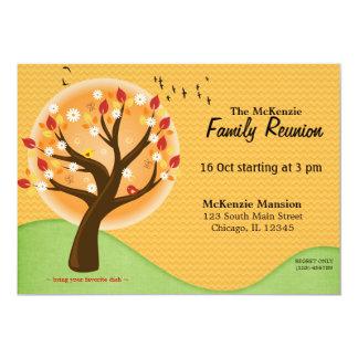 "Autumn Family Reunion 5"" X 7"" Invitation Card"