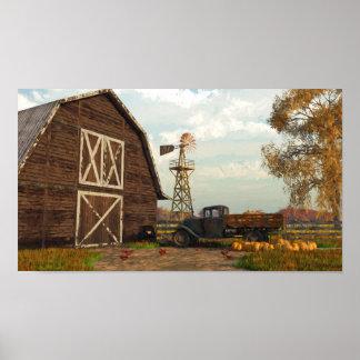 Autumn Farm Scene Print