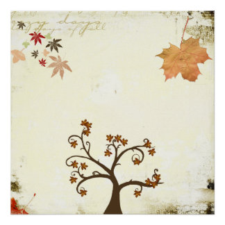 autumn feel poster