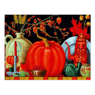 Autumn Festive Table Postcard