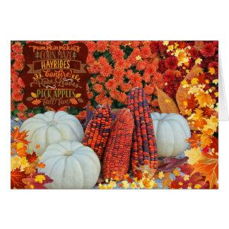 Autumn Festivities Greeting Card
