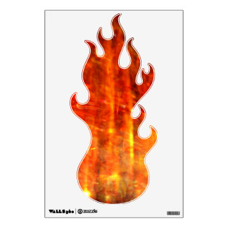 autumn fire abstract art wall sticker