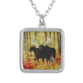 Autumn Fire Silver Plated Necklace