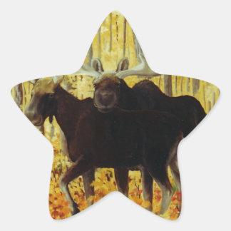 Autumn Fire Star Sticker