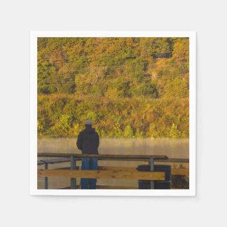 Autumn Fishing Lake Springfield Disposable Napkins