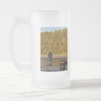 Autumn Fishing Lake Springfield Frosted Glass Beer Mug