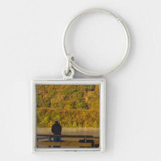 Autumn Fishing Lake Springfield Keychain