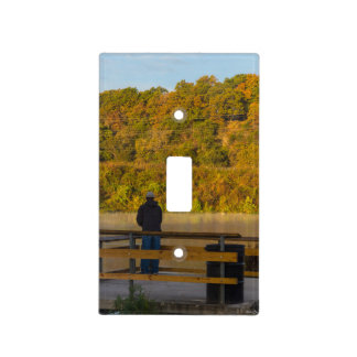 Autumn Fishing Lake Springfield Light Switch Cover