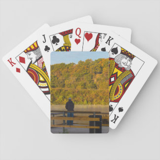 Autumn Fishing Lake Springfield Playing Cards