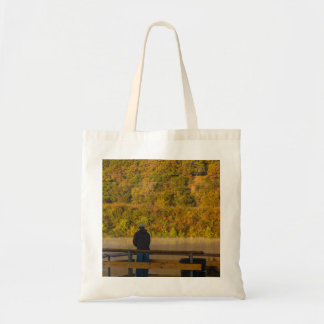 Autumn Fishing Lake Springfield Tote Bag