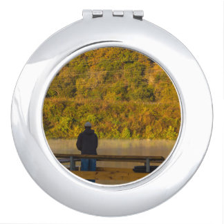 Autumn Fishing Lake Springfield Vanity Mirror