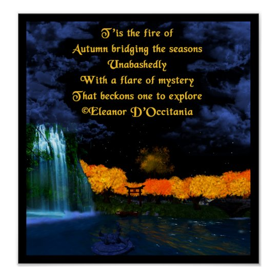 Autumn Flames Poetry Value Poster (Matte)
