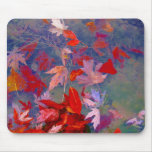 Autumn floating leaves mousepads