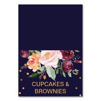Autumn Floral Buffet Food Labels Card