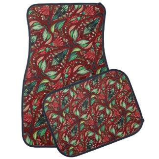 Autumn floral rustic beautiful stylish pattern auto mat