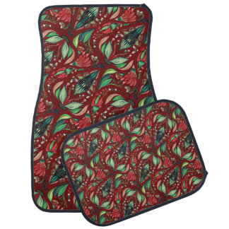 Autumn floral rustic beautiful stylish pattern car mat