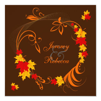 Autumn Flourish Wedding Card