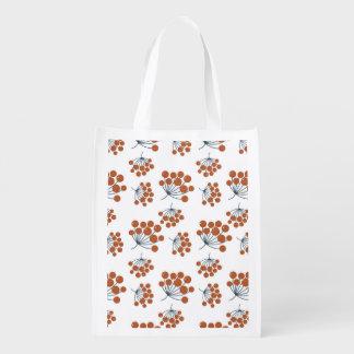 Autumn Flower Pattern Grocery Bag