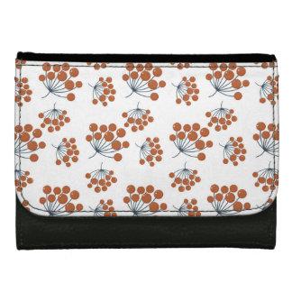 Autumn Flower Pattern Wallet For Women