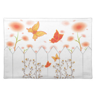 Autumn Flowers and Butterflies Placemat