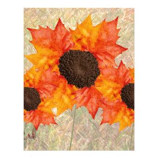 Autumn Flowers Letterhead