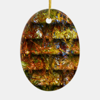 Autumn Foliage Ceramic Oval Ornament