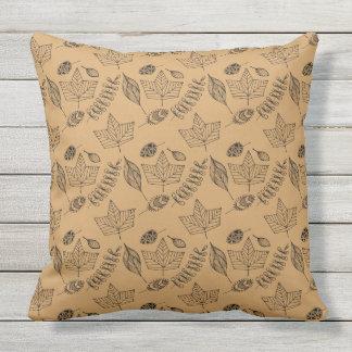 Autumn Foliage Pattern Throw Pillow