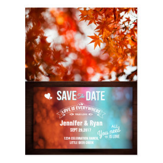 Autumn foliage/Save The Date Postcard