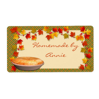 Autumn Food Label
