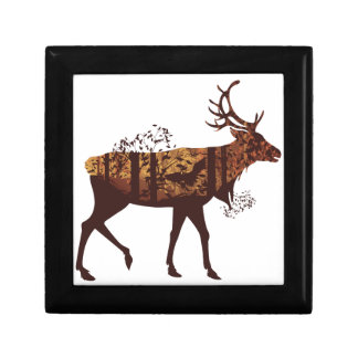 Autumn Forest Landscape and Deer 2 Gift Box