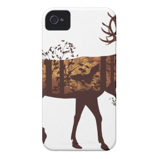 Autumn Forest Landscape and Deer 2 iPhone 4 Covers