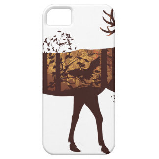 Autumn Forest Landscape and Deer 2 iPhone 5 Cases