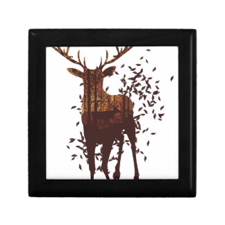 Autumn Forest Landscape and Deer Gift Box